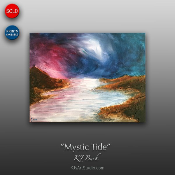 Mystic Tide - Original Heavily Textured Contemporary Seascape Painting by KJ Burk