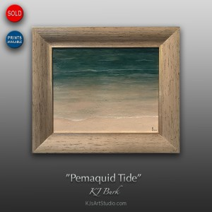 Pemaquid Tide - Original Contemporary Textured Seacoast Painting by KJ Burk
