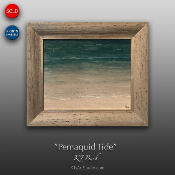 Pemaquid Tide - Original Contemporary Textured Seacoast Painting by KJ Burk