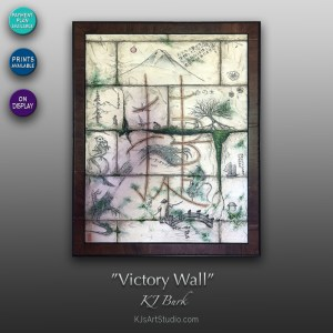 Victory Wall - Original Mixed Medium Textured Contemporary Painting by KJ Burk
