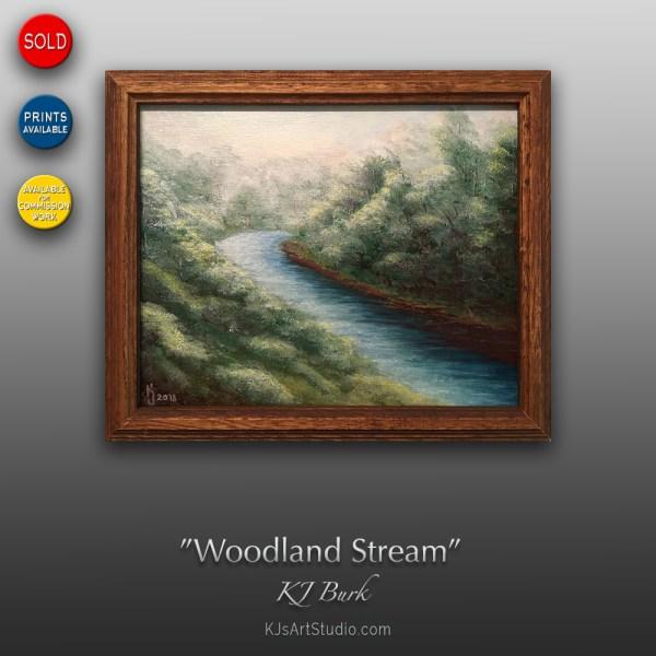 Woodland Stream | Original Landscape Painting by KJ Burk