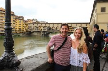 Ponte Vecchio with the bae... oh yeah, he was on vaca too!