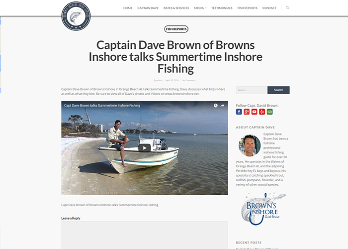 Brown's Inshore Guide Service Blog Post
