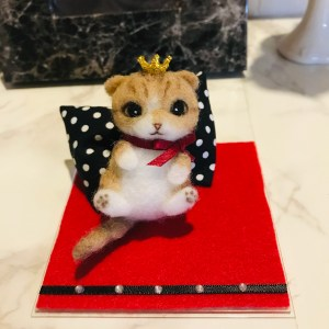 スコティッシュ 猫 羊毛フェルト