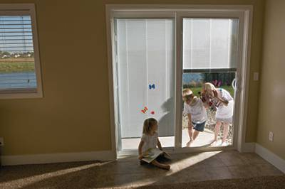 all about patio doors with built in blinds