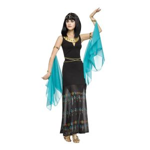 Egyptian Queen of Nile Cleopatra Goddess Deluxe Black Women Costume