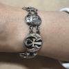 Hallmark-Egyptian-Silver-Cuff-Bracelet-Ankh-key-of-life-scarab-and-Lotus-flower