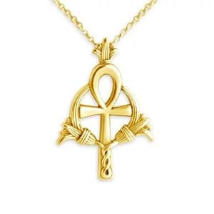 Egyptian Ankh Necklace Gold