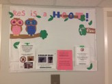The bulletin board I made for my floor