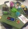 A full view of my Garden centre. I hid bugs in the soil for students to find, name, sort, count, etc.