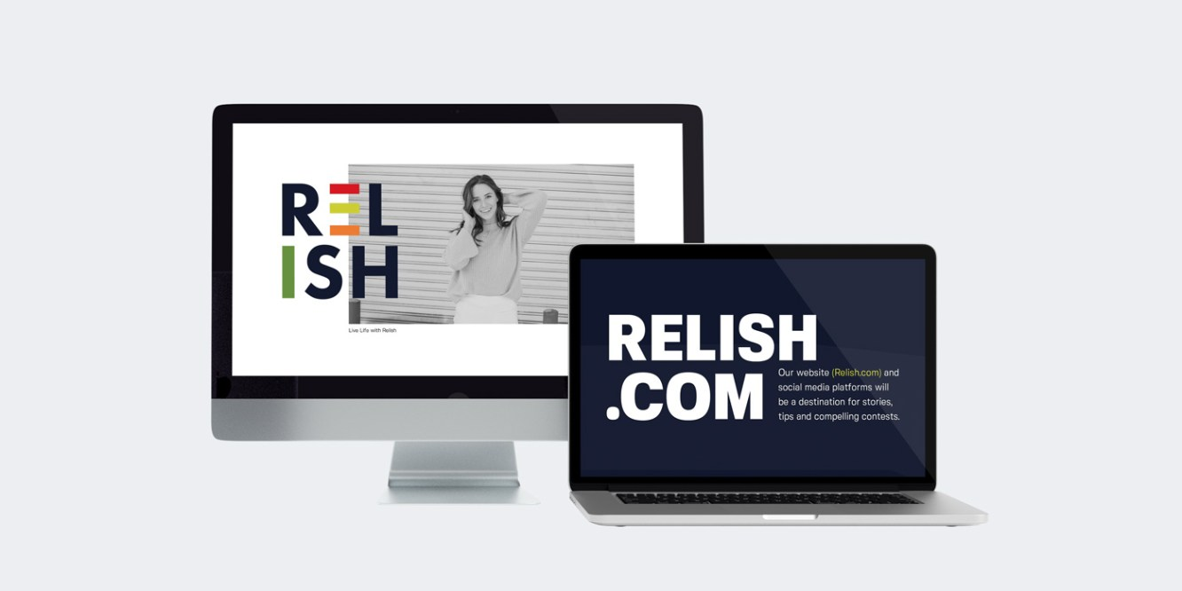 Relish Electronic Brochure Mockup