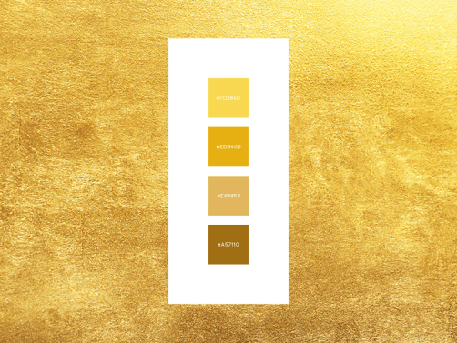 Gold color palette_