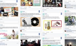A sampling of some social posts created and used on Facebook