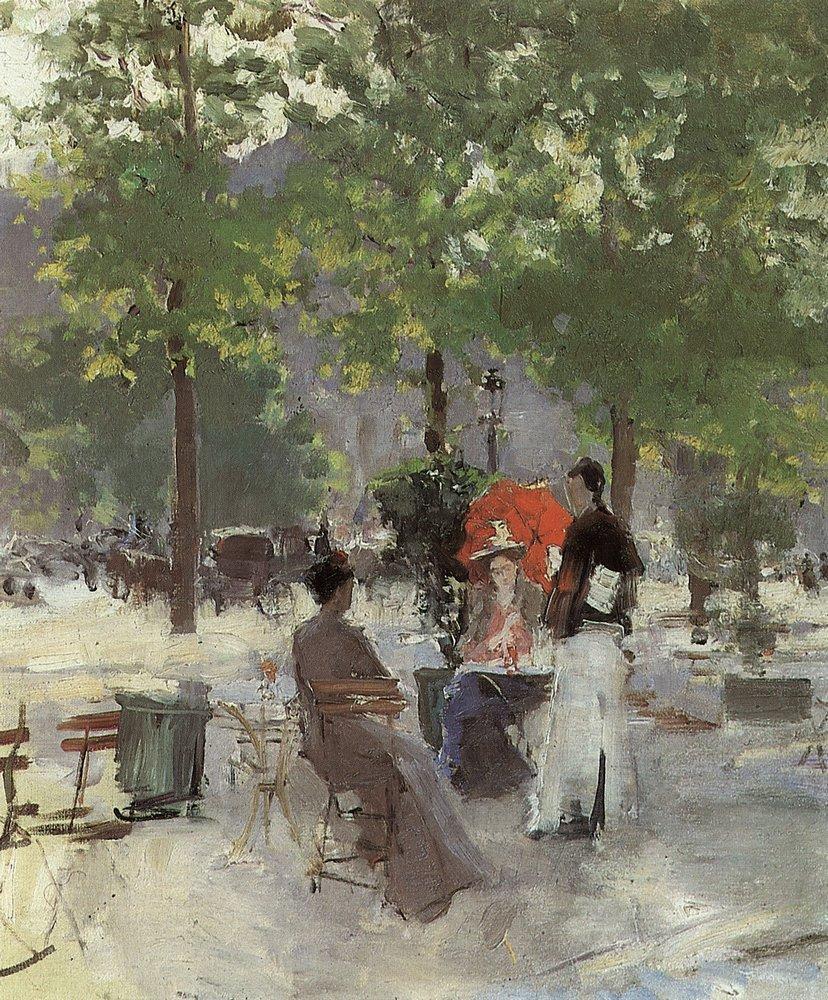 Константин Алексеевич Коровин. Парижское кафе. 1890-е