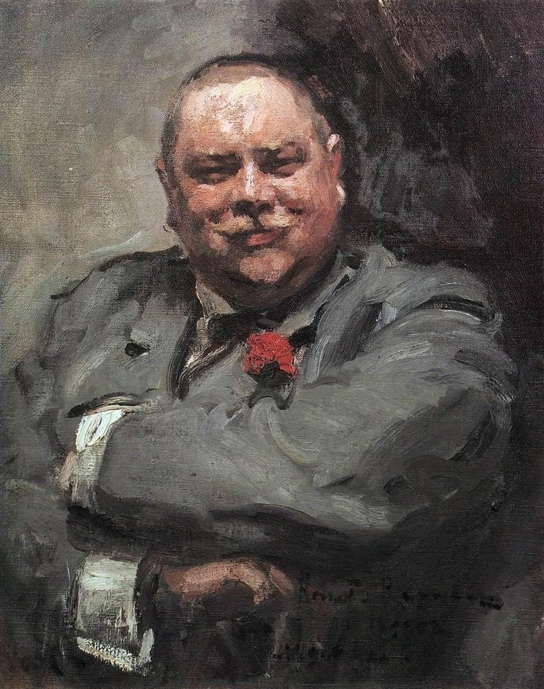 Константин Алексеевич Коровин. Портрет Н. Д. Чичагова. 1902