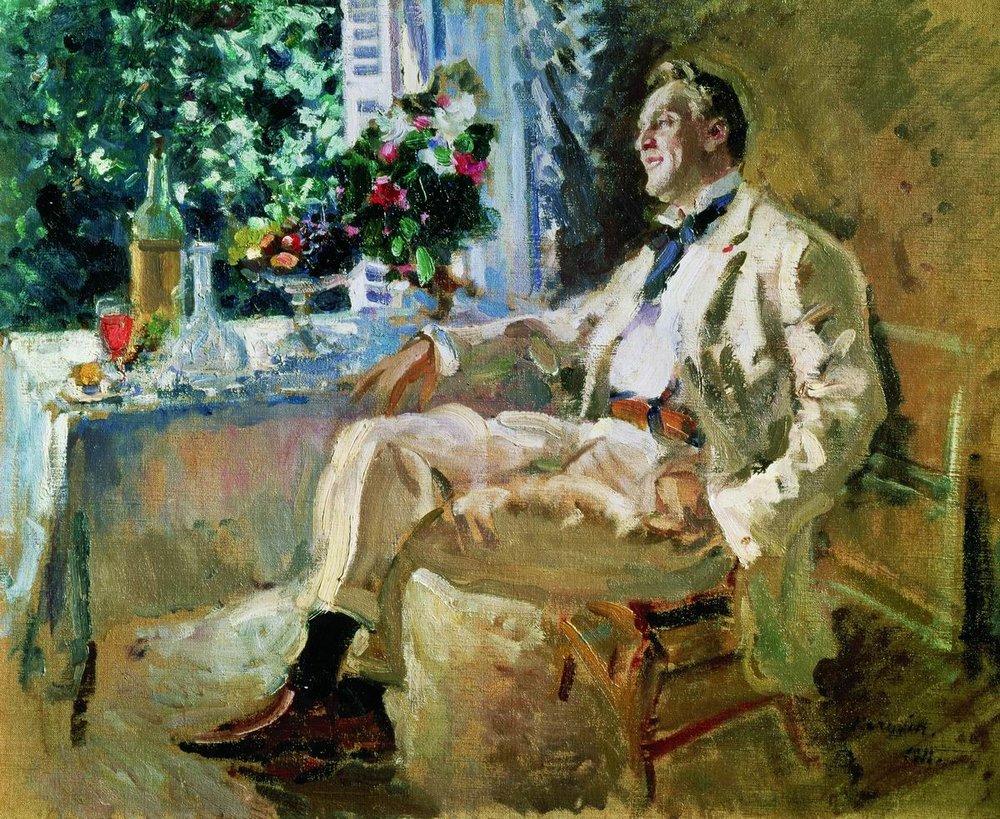 Константин Алексеевич Коровин. Портрет Фёдора Шаляпина. 1911