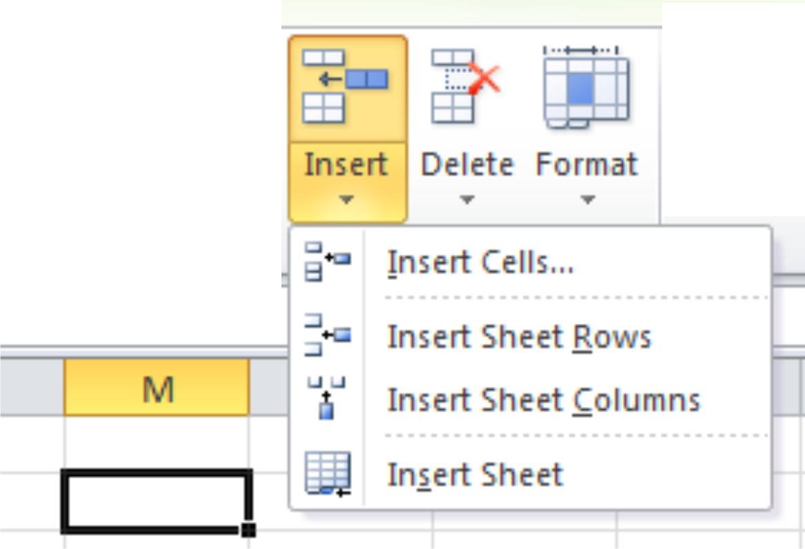 Format Worksheets