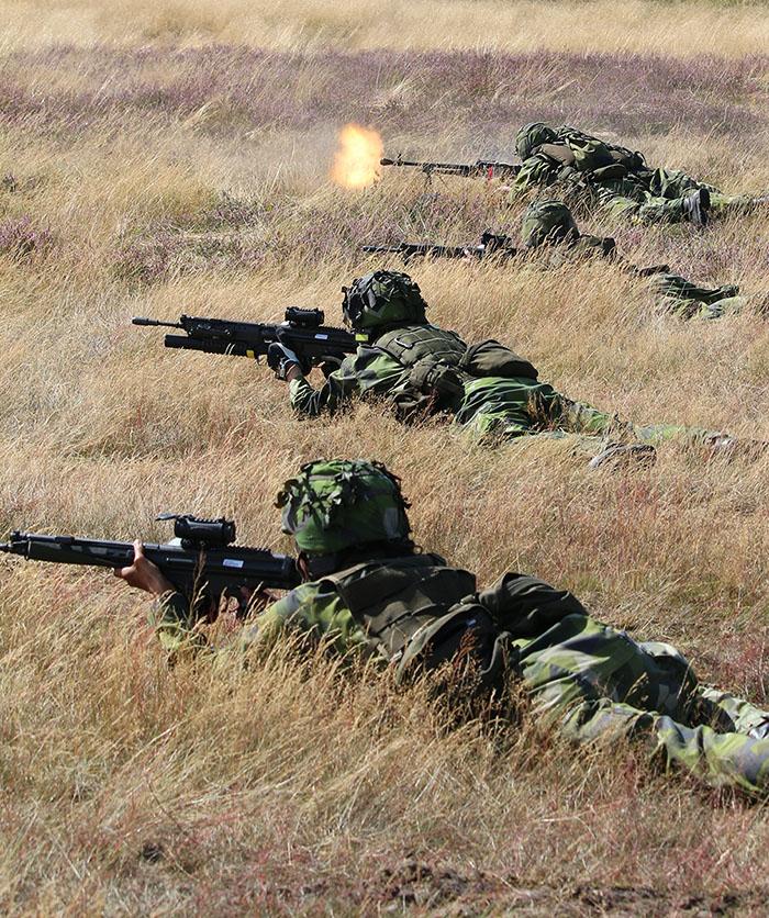 """Hemvärnssoldater Revingehed 2015. Fotograf och upphovsman """"Jorchr"""", från Wikimedia enligt licens."""