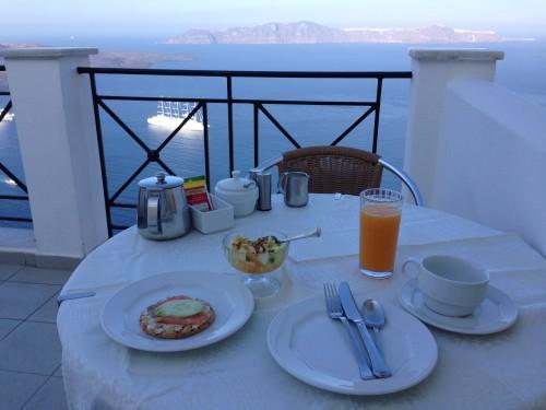 サントリーニ ホテル 朝食