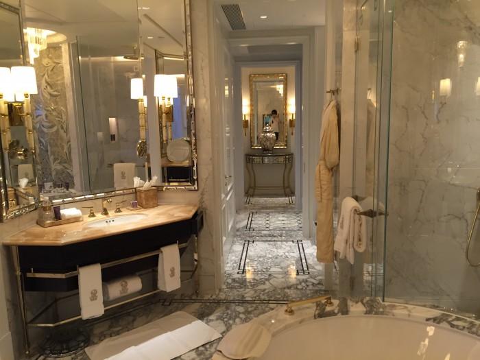 リッツカールトンマカオのバスルーム