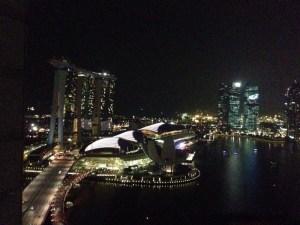 シンガポール:リッツカールトンミレニアの部屋からの絶景