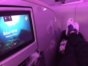 ニュージーランド航空のビジネスクラスに乗ってみた