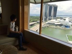 リッツカールトン・シンガポールでシャンパン飲みながらドラクエ