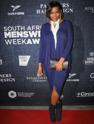 Ink navy dress by Ruff Tung, hair by Aretha Bauwens , and that gorgeous white & gold necklace by Mix clothing