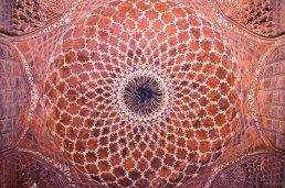 Decke der Moschee des Taj Mahals, Agra