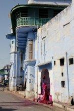 Die Stra?en von Pushkar nach dem Farbenfest