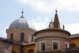Dacher nahe des Piazza del Popolo, Rom
