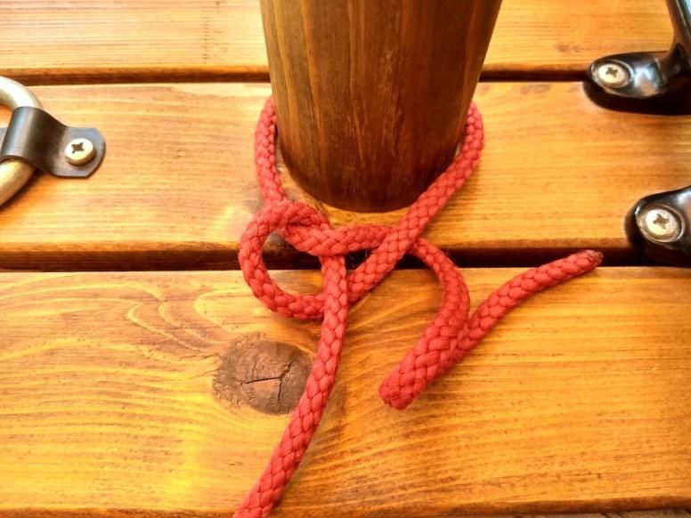 Wird der Knoten auf Slip gelegt...