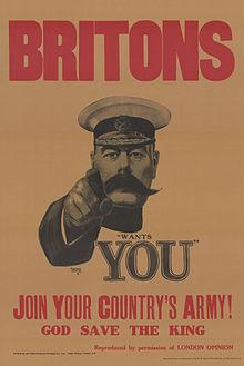 30a_Sammlung_Eybl_Großbritannien._Alfred_Leete_(1882–1933)_Britons_(Kitchener)_wants_you_(Briten_Kitchener_braucht_Euch)._1914_(Nachdruck),_74_x_50_cm._(Slg.Nr._552)