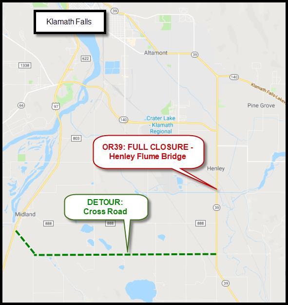 KFalls+OR39+Ramp+closures
