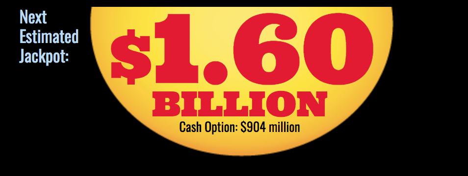 DRAWING TONIGHT FOR RECORD $1.6 BILLION MEGA MILLIONS ...