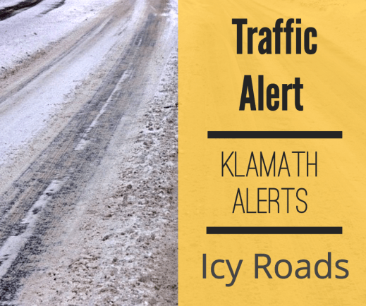 Traffic Alert: Icy conditions on Crescent Cutoff Road