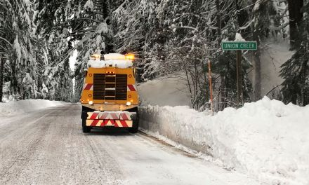 HIGH WINDS FORCE CLEAN-UP CREWS OUT OF HIGH CASCADES AREA