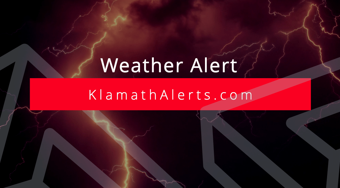 Weather Alert: Severe Thunderstorm Watch Issued For Klamath & Lake Counties until 7pm