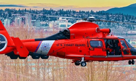 North Bend, OR based rescue swimmer honored for saving the life of fellow aircrew member