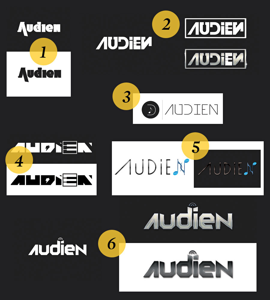audien logo first proposals