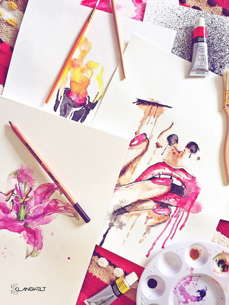 Various Watercolor Illustrations by Klangwelt