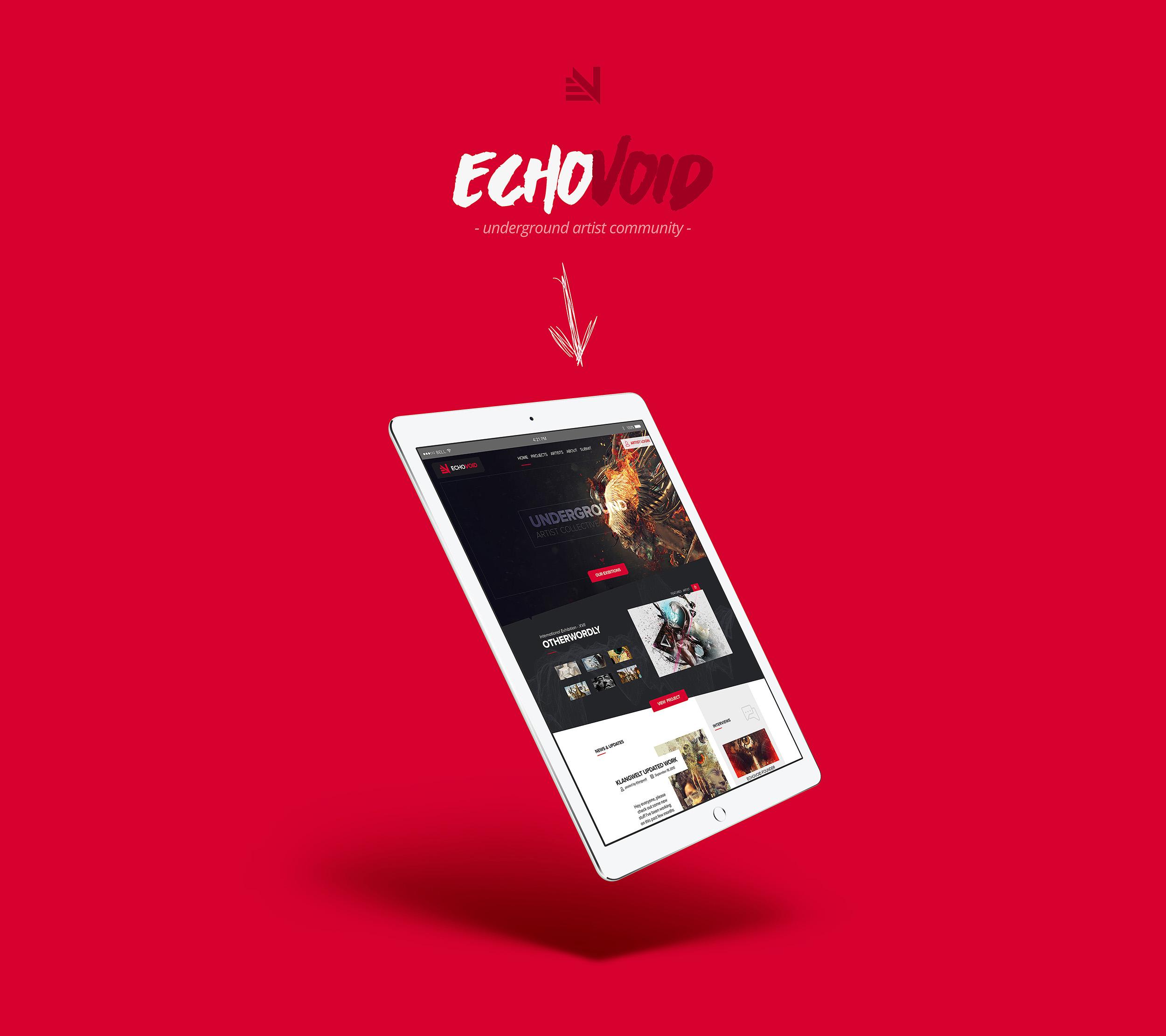 Community Tablet Website Layout