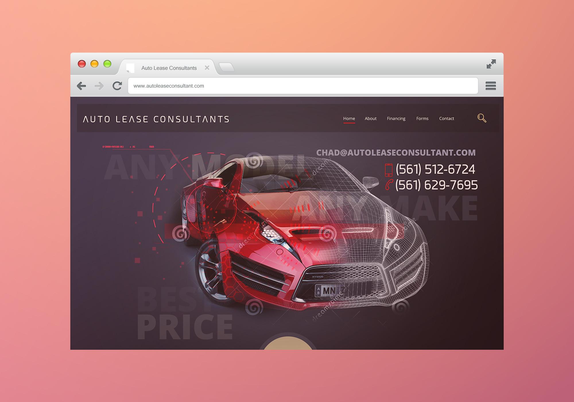 Auto Lease Consultant Website Design, Branding and Development