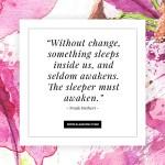 Quote about Change Klangwelt Frank Herbert
