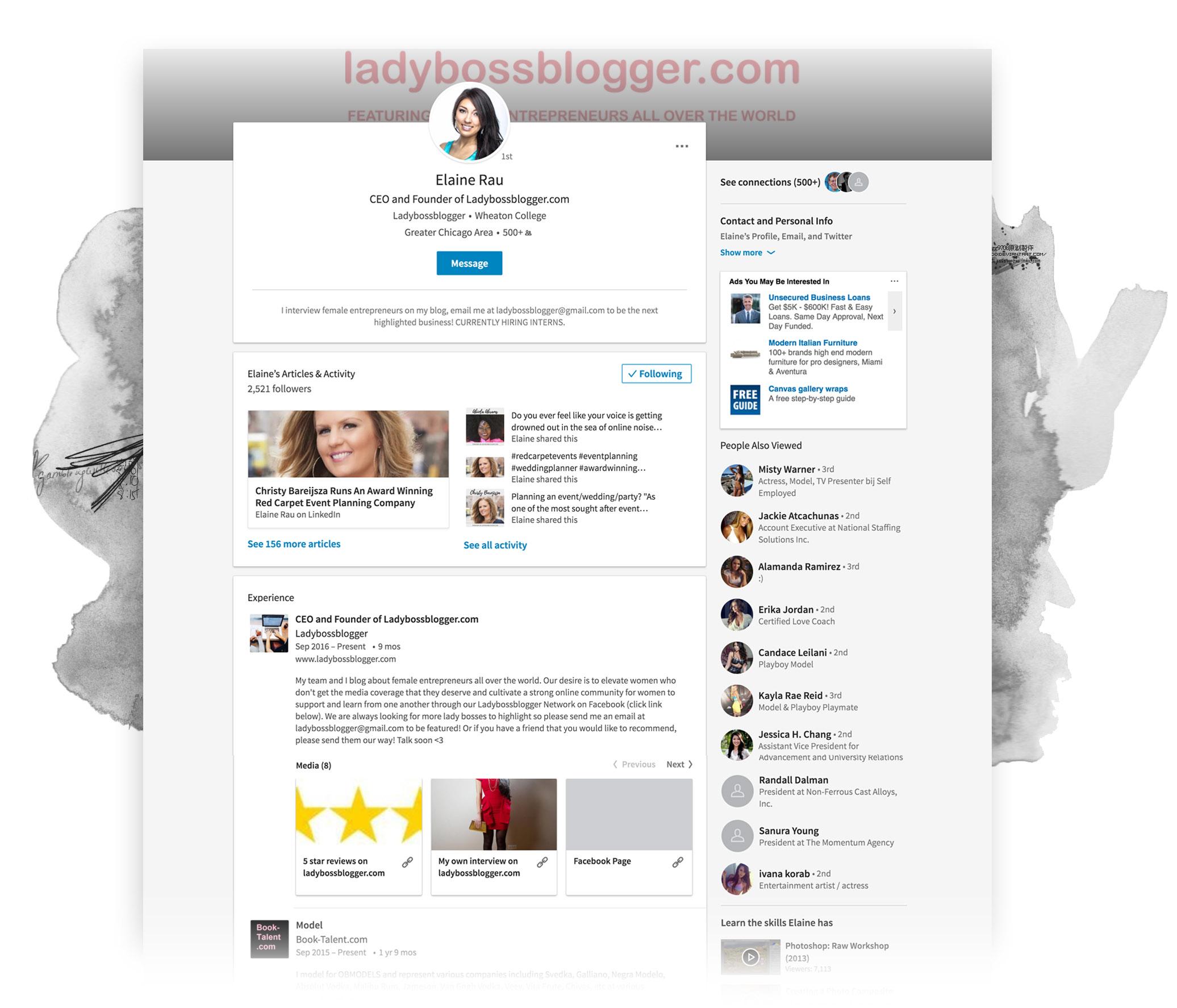 LadyBossBlogger LinkedIn strategy page