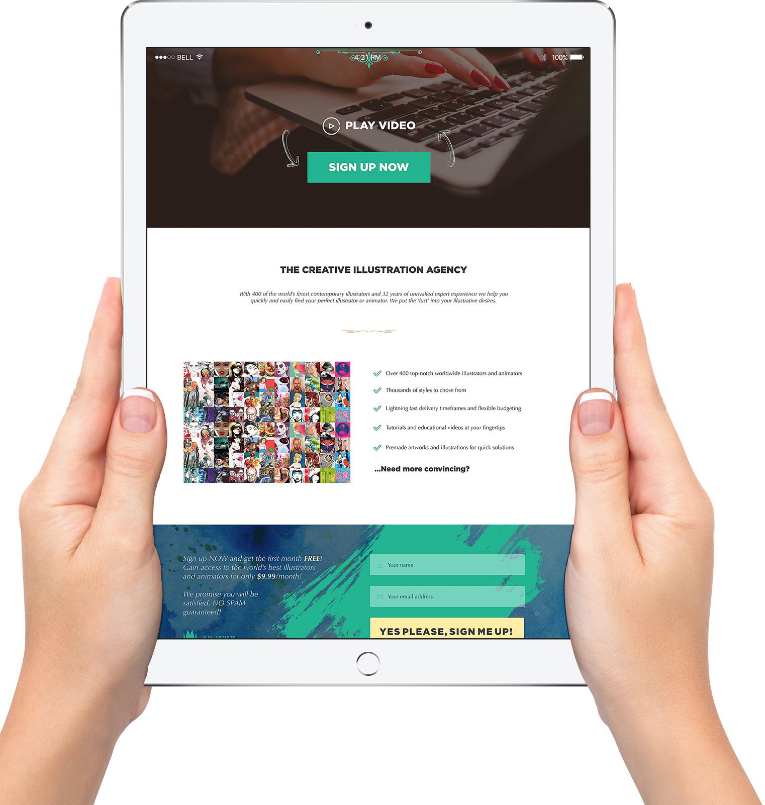 ipad mobile web design custom