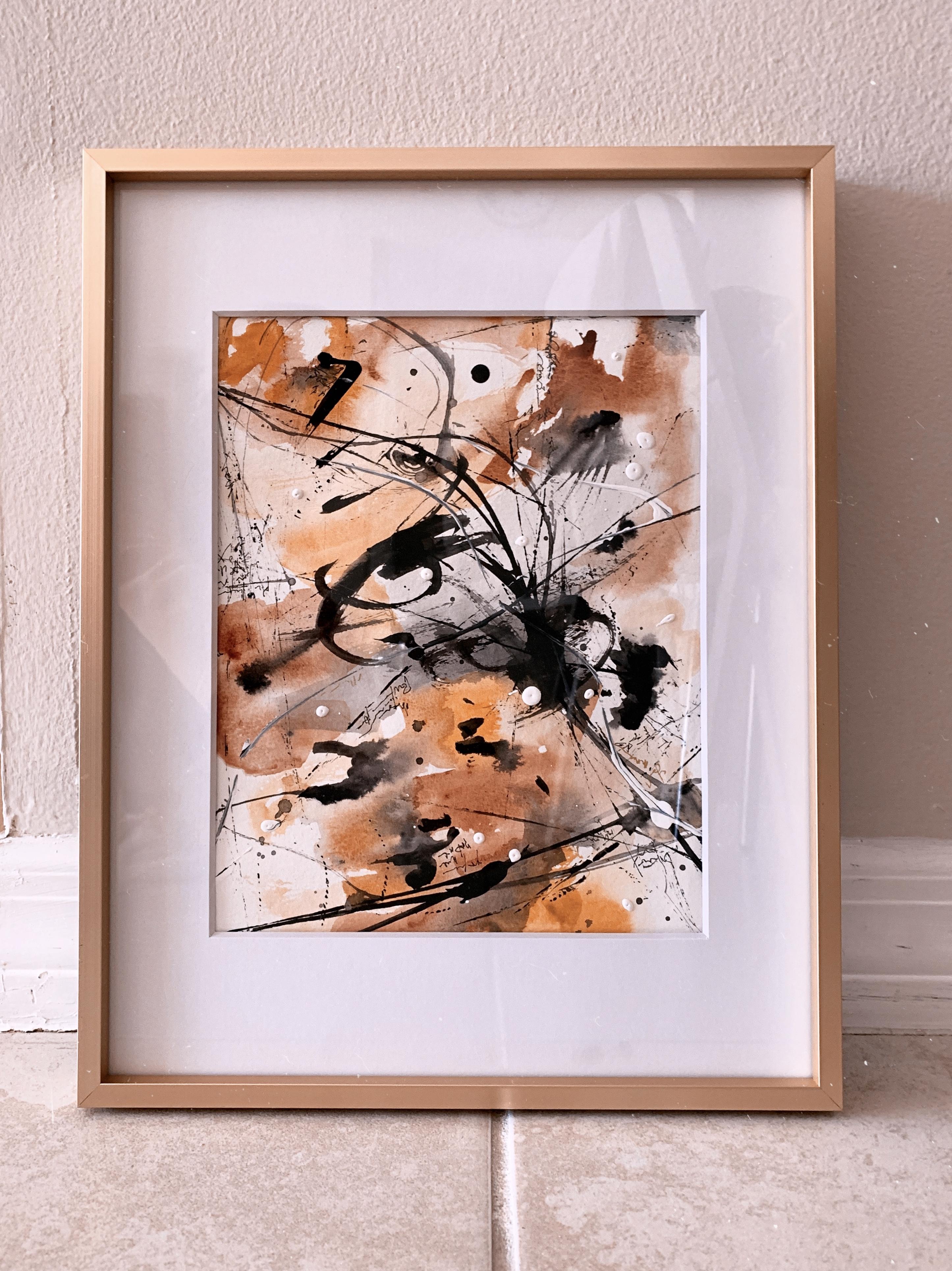 """Blizard II"" acrylic painting on paper"
