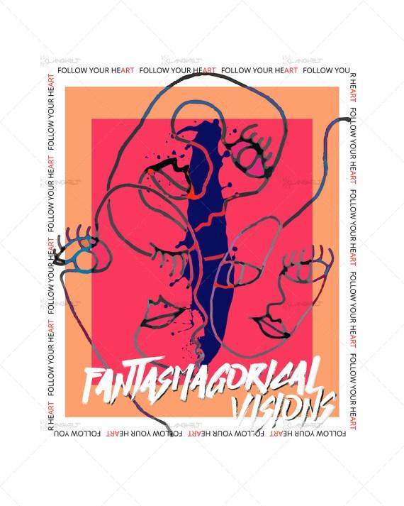Fantasmagorical Visions Women's Graphic T-shirt