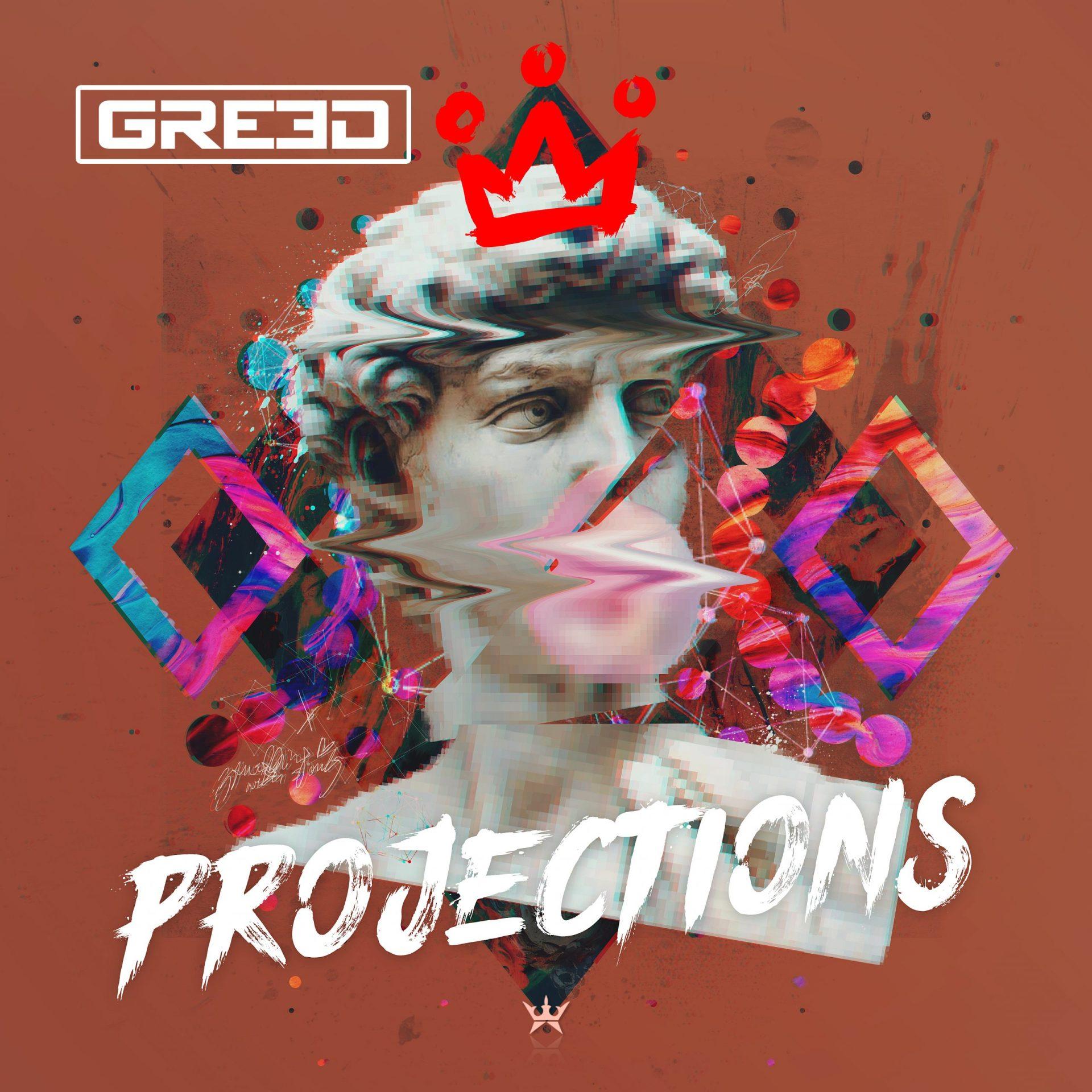 GR33D projections album art cover design