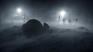 Frá tökum á Frosti á Langjökli veturinn 2012. Mynd: RAX.